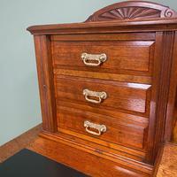 High Quality Maple & Co Antique Victorian Pedestal Desk (2 of 11)