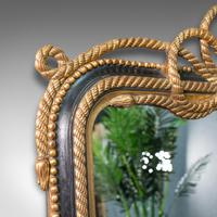 Very Large Antique Wall Mirror, English, Gilt, Overmantel, Dressing, Regency (6 of 12)