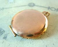 Vintage Pocket Watch Chain Vinaigrette Fob 1950s Victorian Revival Rose Gilt Fob (5 of 11)