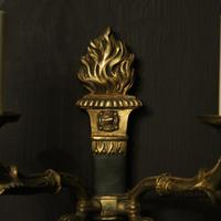 French Pair of Empire Gilded Wall Lights (9 of 10)