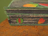 Shabby Chic Folk Art Painted Writing Slope Box with Fruit, Recipe Storage (7 of 14)