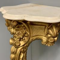 Pair of 19th Century French Gilt Console Pier Tables (6 of 13)