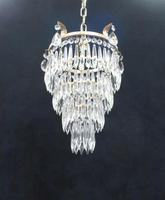 Art Deco Italian Four Tier Crystal Glass Chandelier (6 of 6)