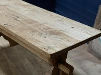 Rustic French Bleached Oak Coffee Table (6 of 20)