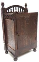 Fine Antique Arts & Crafts Mantel Clock – 8-day Carved Delftware Striking Mantle Clock (6 of 11)