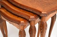 Queen Anne Style Burr Walnut Nest of Tables (6 of 8)