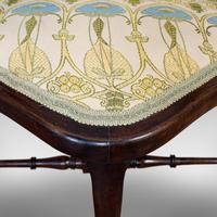 Antique Corner Armchair, French, Beech, Seat, Art Nouveau, Victorian c 1890 (12 of 12)