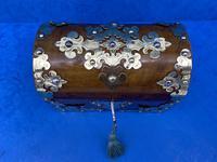 Victorian Brassbound Walnut Box c.1850 (4 of 10)