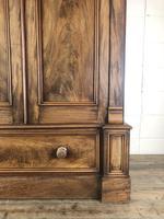 Large Victorian Mahogany Triple Compactum Wardrobe (7 of 11)