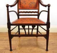 Edwardian Art Nouveau High Back Open Armchair (6 of 10)