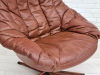 H.W.Klein, Danish swivel armchair, 70s, leather, original upholstery, very good condition (17 of 19)