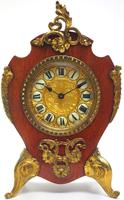 Antique French Mahogany & Ormolu Boulle Mantel Clock Shield Boulle Case. (2 of 7)