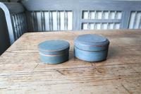 Swedish 'Folk Art' original blue painted wooden storage box / jar 19th Century (15 of 15)