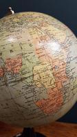 "Antique 8"" Paper Mache Phillip's Terrestrial Globe (4 of 7)"