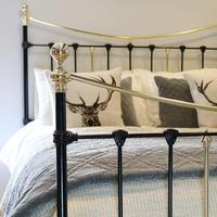Antique Bed in Black (5 of 6)
