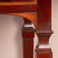 Edwardian Inlaid Mahogany 2 Drawer Side Table (3 of 15)