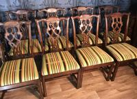 Set of Ten Georgian Style Mahogany Dining Chairs (13 of 13)