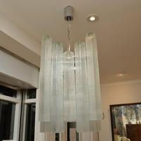 Pair of Large Vintage 1960's Glass Chandeliers by Doria Leuchten (3 of 11)