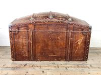 Large Leather Bound Dome Top Trunk (4 of 15)