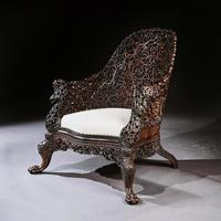 Exceptional 19th Century Anglo Indian Carved Teak Armchair (2 of 9)