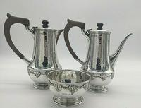 Silver Coffee Set by Arts and Crafts Silversmith A E Jones 1919