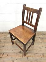 Selection of Six 19th Century Welsh Oak Farmhouse Kitchen Chairs (3 of 10)