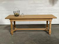 Nice Bleached Oak Farmhouse Dining Table (19 of 19)