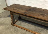 Very Early Oak Farmhouse Refectory Dining Table (9 of 31)