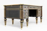 19th Century Ebonised and Brass Inlaid Desk (3 of 11)
