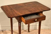 Attractive Regency Period Mahogany Drop Leaf Side Table (5 of 6)