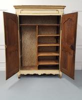 Early French Original Painted Armoire c.1750 (4 of 9)