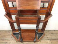 Antique Edwardian Mirror Back Hall Stand (5 of 10)
