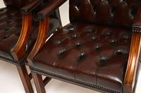 Pair of Antique  Deep  Buttoned Leather Library Armchairs (6 of 12)