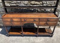 Antique Georgian Oak Potboard Dresser (5 of 28)