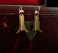 Antique Victorian 15ct Gold Drop Earrings (9 of 9)