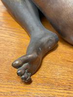 Art Deco Style Nubile African Tribal Bronze Nude Lady Statue Sculpture (21 of 28)