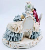 Dresden Germany Figurine Sculpture of Couple Playing Chess (5 of 6)