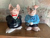 Fine Set of Pigs from the 1970's Natwest Bank Money Boxes (2 of 3)