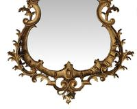 Rare Pair of 19th Century Pier Giltwood Mirrors in the Rococo Manner (4 of 4)