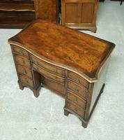 Antique Serpentine Front Walnut Desk (5 of 10)