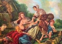 After Amos Cassioli - Large 20th Century Oil on Canvas Painting (2 of 12)