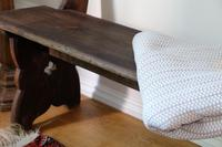 Victorian Pine Bench with Decorative Carved Sides & Curved Back Support (5 of 5)