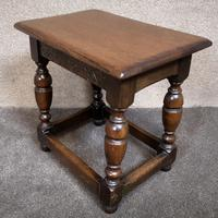 Solid Oak Stool / Occasional Table (3 of 9)