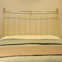 Brass & Iron Antique Platform Bed in Cream (3 of 5)