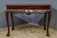 Carved Mahogany Side Table (5 of 7)