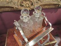 Unusual Victorian Antique Silvered Split Opening Tantalus (3 of 8)