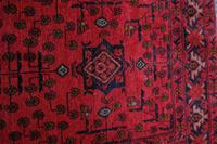 Vintage North West Persian Wool Runner with an all over design upon a red and dark blue ground within multiple borders (5 of 8)