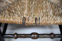 Pair Antique Oak & Rush Lancashire Chairs (5 of 11)