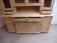 A Lovely 4 Door Antique/Old Pine Large Glazed Kitchen Dresser To Paint/Wax (7 of 9)