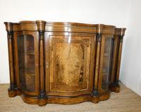19thc Burr Walnut Credenza Cabinet (10 of 10)